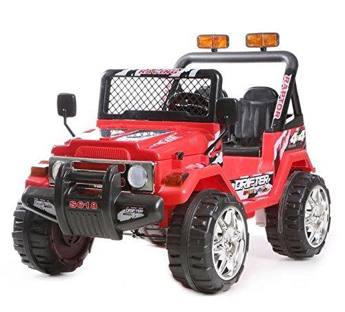 babyfun Macchina Elettrica per Bambini 2 posti 12V Jeep Safari 618 Rossa