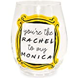 Silver Buffalo Friends You're the Rachel Stemless Drinking Glass, 1 Count (Pack of 1), Clear