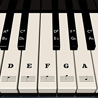 Piano Stickers for Keys - White & Black Piano Keyboa