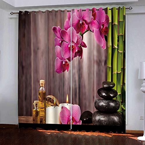 Verduisteringsgordijn, gordijnen, bamboe, ondoorzichtig, met ogen, moderne raamdecoratie voor kinderkamer, woonkamer, slaapkamer