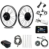 SCHUCK 48V1500W Electric Bike Conversion kit 20 24' 26' 27.5' 28' 29' 700C Front Wheel Electric Bicycle, brushless gearless Motor with LCD8H for Electric Bicycle Conversion (48V 1500W Front 20inch)