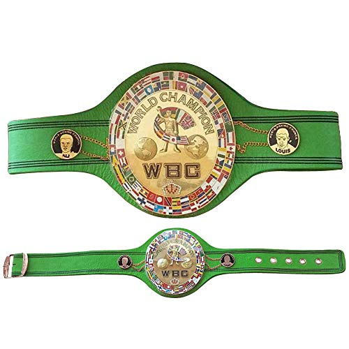 WBC Jeff Championship Boxing Belt 3D Center Plate Genuine Leather Adult