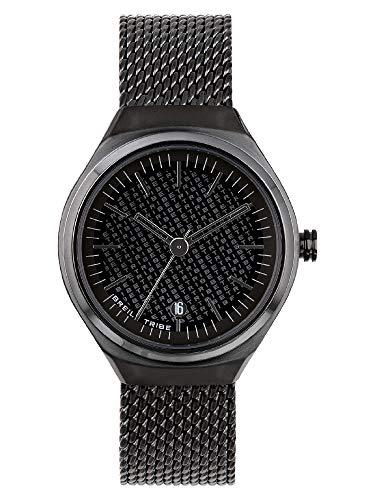 Breil Unisex SPIN Off Reloj Solo Movimiento de Tiempo - 3 Horas de Cuarzo y Acero Mesh de Unisex ES One Size