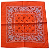 GROOMY Square Scarf, Bright Candy Color Bandana Head Wrap Cycling Biker Double Paisley Floral Scarf-5