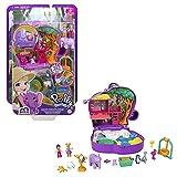 Polly Pocket Cofre aventura elefante, muñeca con accesorios, juguete +4 años (Mattel GTN22)