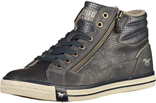 MUSTANG Damen High Top Sneaker Blau, Schuhgröße:EUR 38