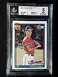 Chipper Jones Bgs Grade 8 Topps 1991 Desert Shield Rookie Card #333 Beckett - Baseball Slabbed Rookie Cards. rookie card picture