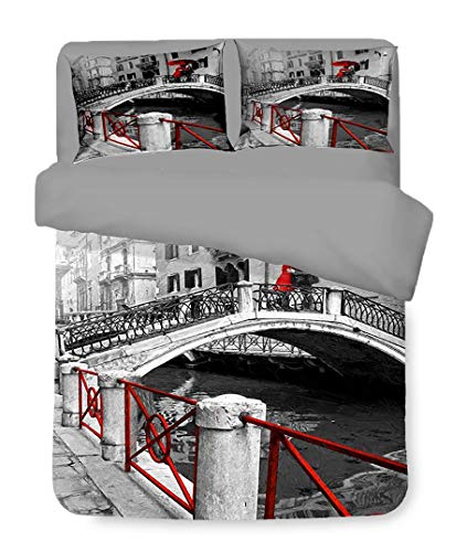 Tex Family - Funda nórdica de raso HD para cama de matrimonio, 250 x 200 cm