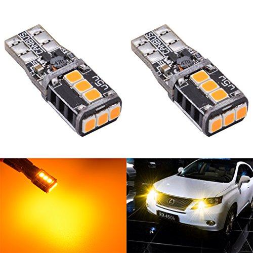 KaTur T10 2825 W5W 194 168NA 175 Ampoule LED pour voiture intérieure 2835 21SMD CanBus de plaque d'immatriculation Porte latérale Marque de courtoisie Carte de dôme Carte LED Ampoules DC 12V 7W Orange