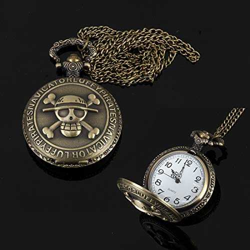 Uhren Skeleton Muster Zink-Legierung Quarz wasserdichte Taschen-Uhr-Asun