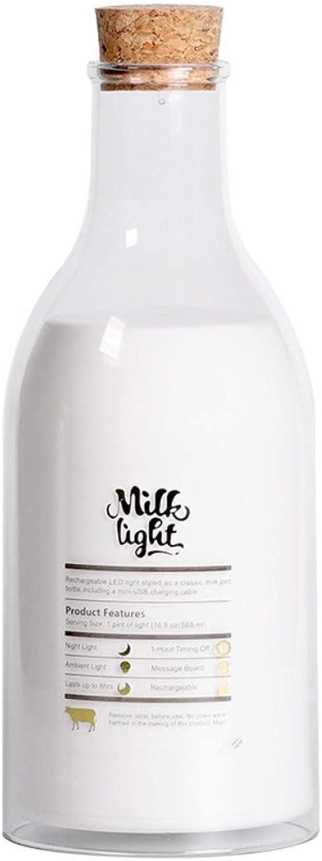 Schlummerleuchten Führte Kreatives Geschenkdekorationsatmosphre-Schlafenlook-Milchflaschen-Nachtlicht Usbs