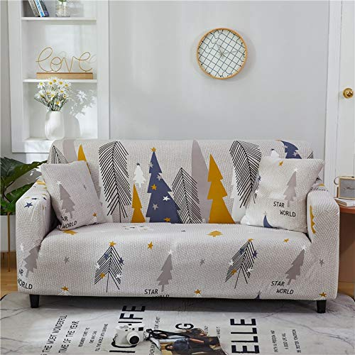 WXQY Funda de sofá Floral de poliéster, Funda de sofá retráctil para Sala de Estar, Funda de sofá elástica, Funda de sofá, Toalla, Funda de sofá A2, 1 Plaza