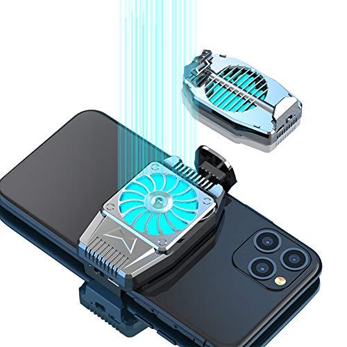 Oluote Ventilador de Enfriamiento de Teléfono Móvil para PUBG, Radiador de Teléfono Móvil portátil con Luz LED, para Jugar y Ver...