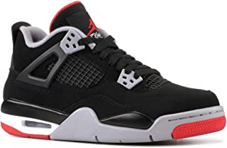 Nike Air Jordan Retro 4 Bred Gade School Lifestyle Shoe