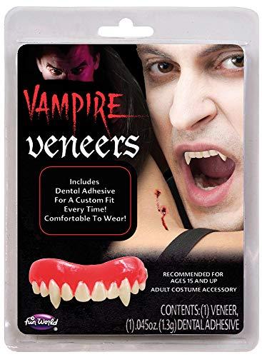 Vampirzähne Vampirgebiss zum Kostüm - Falsche Zähne zum Vampirkostüm Halloween Karneval Mottoparty
