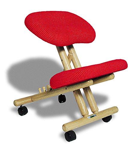 sedia ergonomica estetista cinius Sedia Ergonomica Naturale con Seduta Color Rosso
