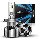 Marsauto 9003/H4/HB2 LED Headlight Bulbs,16000LM 300% Brightness 6000K Xenon White, Aluminum Alloy M2 Series High and low Beam Light Bulb Conversion Kit with 12000RPM Turbo Fan
