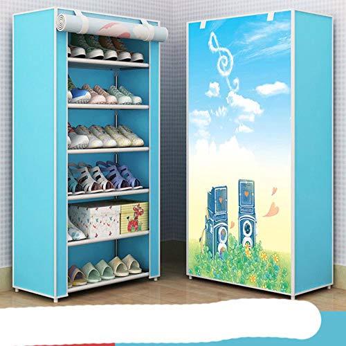 Zapatero organizador de zapatos de metal de aluminio para zapatos, estante de almacenamiento de zapatos, organizador de casa, accesorios, velcro 21
