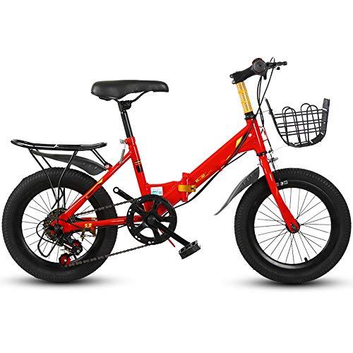 YumEIGE Kinderfiets voor jongens en meisjes, 16/18 / 20 inch, fietsen met voeten, kinderfiets, geschenken voor jongens en meisjes van 4-15 jaar, zwart, rood, wit, geel verkrijgbaar 20in Netto