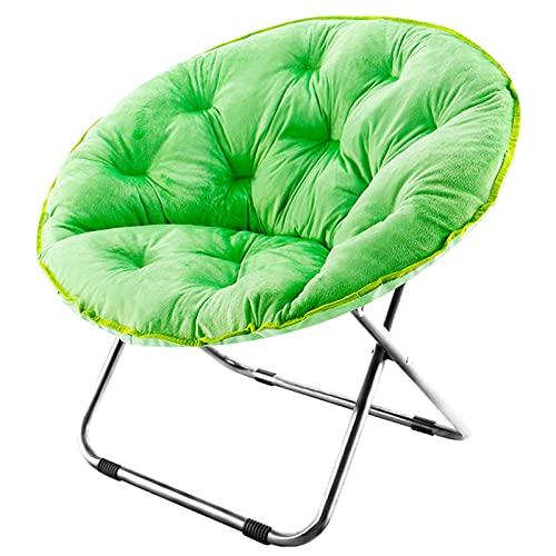 liegestuhl Lounge Sessel Klappstuhl Mond, Fauler Runder Sofasessel, Gummi Schlupfmatte, Kinder Erwachsene(Color:Tibetisches Cyan)