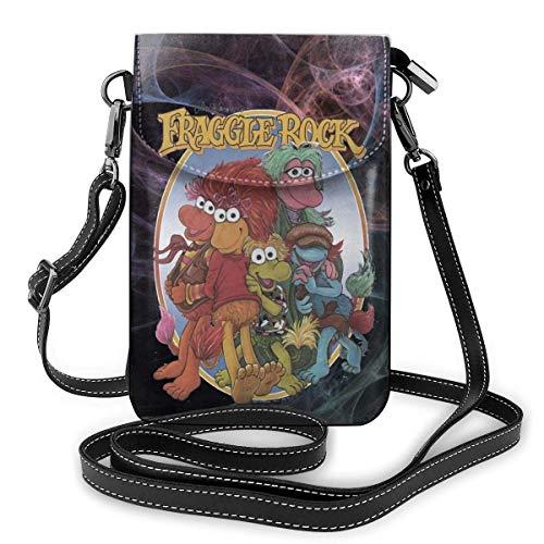 Bolso bandolera de cuero para teléfono, cartera para mujer, bolso pequeño, mini bandolera Fraggle Rock Group
