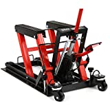 Smartxchoices 1500 lbs Motorcycle ATV Lift Jack Hydraulic Scissor Jack Stand Quad Dirt Street Bike Hoist