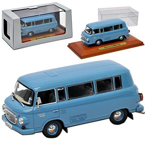 Atlas Barkas B1000 KB Kleinbus Transporter Blau 1961-1990 DDR 1/43 Modell Auto mit individiuellem Wunschkennzeichen