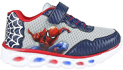 CERDÁ LIFE'S LITTLE MOMENTS, Zapatillas LED Spiderman de Color Azul Niñas, Gris Perla, 25 EU