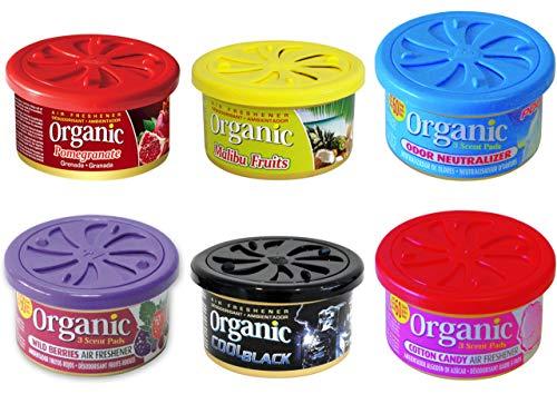 6 L&D Organic Scents Duftdosen fürs Auto NEUHEITEN DUFTPAKET zum Probierpreis!!