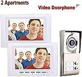 Knoijijuo - Vídeo de vídeo con 2 interruptores (pantalla TFT de 7 pulgadas, impermeable, 2 monitores + cámara IR-Cut HD de 1000 TVL con 2 botones)