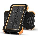 X-DRAGON Chargeur Solaire 25000mAh Solaire Powerbank Batterie Externe Solaire avec 5 Ports de Sortie, Double Entrée (USB C & Micro) pour iPhoneX 8 7, iPad, Samsung Galaxy, Huawei, Xiaomi, Camping