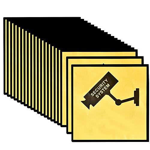 Señal de videovigilancia, Cartel Zona Videovigilada, Cartel disuasorio Interior/Exterior, Etiqueta adhesiva de advertencia Etiqueta de...