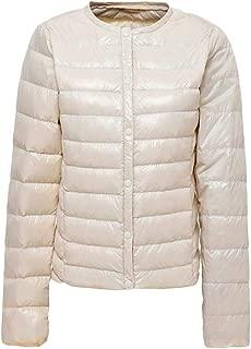 Macondoo Women Outwear Puffer Warm Winter Packable Collarless Down Coat
