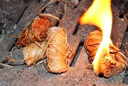 MHM bois bioanzuender lot de cire allume-feu allume zündfüchse verp. pour barbecue 80 pièces dans sachet de 500 g, livraison gratuite