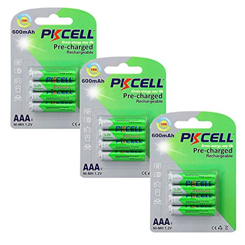 AAA NIMH Rechargeable Battery 1.2V 600mAh Low Self-Discharge Battery (12PC-AAA)
