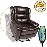 PieDle Electric Power Lift Recliner Chair, Leather...