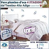 Piumone, Piumino Invernale 4 STAGIONI MATRIMONIALE 250 x 200 in vera Piuma d' Oca - LAUNEN TIROL - dal Trentino Alto Adige Caldissimo!