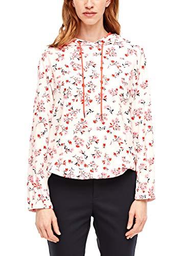 s.Oliver Damen 14.001.11.2878 Bluse, Cream floral AOP, (Herstellergröße: 32)