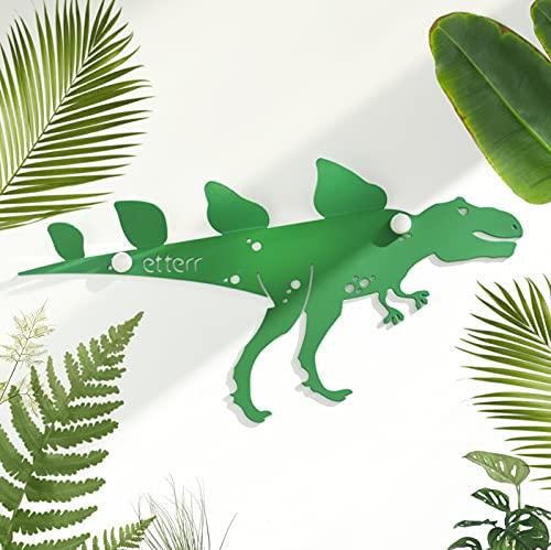 Perchero de pared infantil en forma de dinosaurio, 100% acero al carbono de alta resistencia