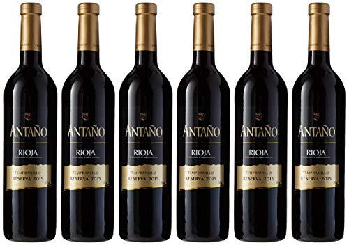 Antaño Reserva Rioja Vino Tinto - 6 Botellas x 750 ml - Total 4500 ml