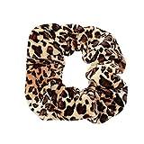 Damen Leopard Druck elastisch Haar Seil Ring Krawatte Pferdeschwanz Band Scrunchie Halter Stirnband GreatestPAK,E
