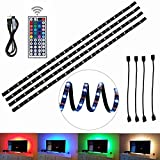 Tiras LED de Luz TV,USB TV Backlight tira, 200cm (78inch) 5V USB Powered Bias iluminación con 44-IR RGB teledirigido, impermeable...