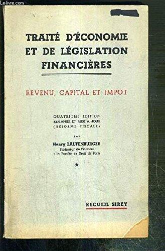 TRAITE D'ECONOMIE ET DE LEGISLATION FINANCIERES