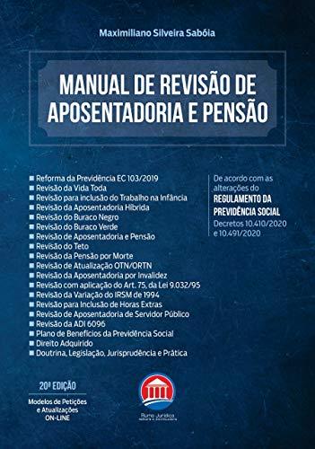 Manual De Revisão De Aposentadoria E Pensão - 20º Edição