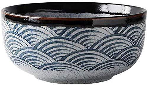 GCE Tazones para el hogar de cerámica Sea Ripple Tazones Grandes |Adecuado para tazón de Sopa de tazón de Fideos tazón de Fuente de Fideos para Restaurante C