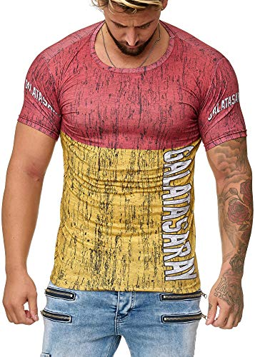 OneRedox Herren T-Shirt Fanshirt Fußball Mannschaft Support Barcelona, Paris, Dortmund, Schalke, Madrid, Bayern, Istanbul Galatasaray XXXL