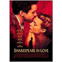 Weitaian恋におちたシェイクスピア(1998)ロマンチックな映画のポスターキャンバス印刷絵画リビングルームの寝室の装飾のための壁の芸術-50X70Cmフレームなし