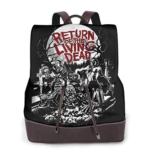 Yuanmeiju Return of The Living Dead Funny Women Mochila de Cuero Travel Backpack Wallet