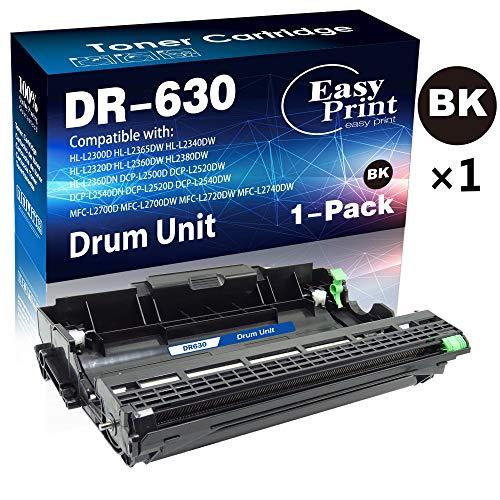 Compatible DR-630 DR630 Drum Unit (1x Black) Use for Brother HL-L2300D HL-L2320D HL-L2340DW HL-L2360DW HL-L2380DW MFC-L2740DW MFC-L2720DW MFC-L2700DW DCP-L2540DW L2520DW Printer, by EasyPrint