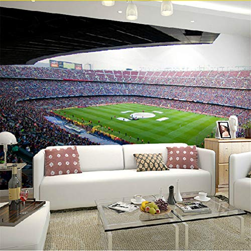 Wuyii Barcelona voetbalstadion sport 3D muurschilderijen behang voor muren woonkamer 3D fotobehang voetbal 3D muurschilderij 120 x 100 cm.